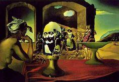 Mercado de esclavos con aparición del busto invisible de Voltaire. 1940