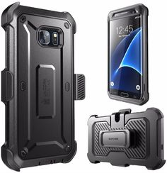 Samsung Galaxy S7 Supcase Full Body Hybrid Rugged Belt Clip Holster Black Case #SUPCASE