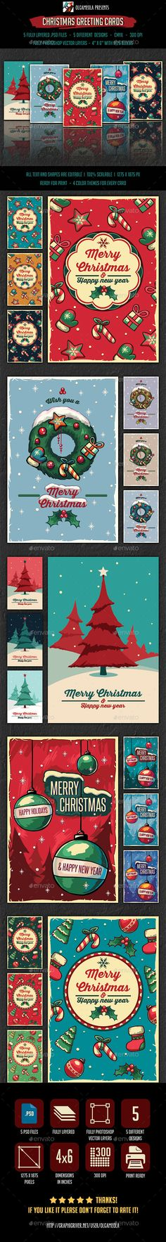 Christmas Greeting Cards Template PSD #design #xmas Download: http://graphicriver.net/item/christmas-greeting-cards-/14043518?ref=ksioks