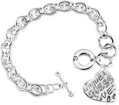 GUESS Grafitti Heart Charm Bracelet - $22.00