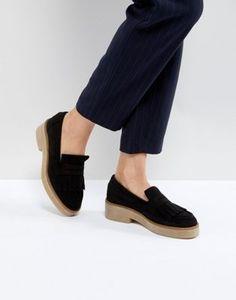 359d9b819389 ASOS MAZE Suede Flat Shoes Flade Sko