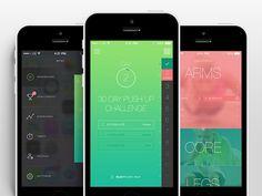 30 Gorgeous Examples Of Fitness Mobile App UI for Inspiration - Smashfreakz