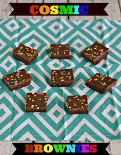 Cosmic Brownies are a fun treat for lunch boxes or for dessert #SundaySupper
