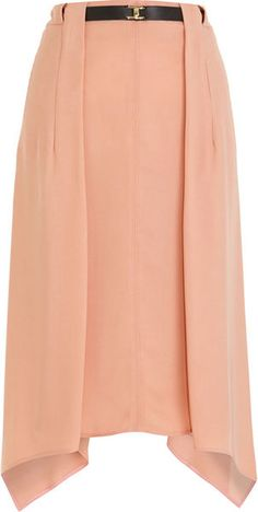 Asymmetric Belted Skirt - Lyst