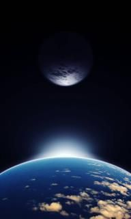 Earth and Moon eclipsed