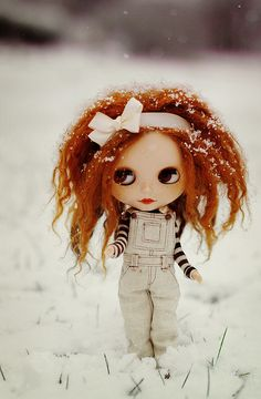 Blythe enjoying the new fallin snow