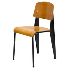 Standard Chair by Jean Prouve, Model Métropole No. Plumbing Pipe Furniture, Plywood Furniture, Cool Furniture, Modern Furniture, Furniture Design, Vitra Chair, Jean Prouve, Futuristic Furniture, Antique Chairs