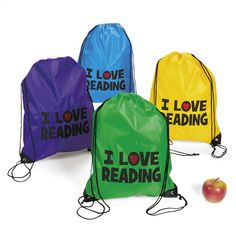 Reading Book Bags, Drawstring Backpack - Dot NZ Shop