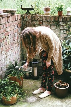 live here • kasia bobula Watering Plants, Floral Pants, Toulouse, Outdoor Living, Outdoor Rooms, Morning Water, Style Me, Style Inspiration, Style Ideas