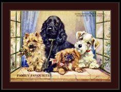 Print-Cairn-Terrier-Cocker-Spaniel-Dog-Art-Picture