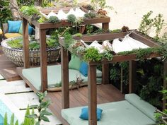 Ideas for diy outdoor shade canopy jamie durie Backyard Canopy, Garden Canopy, Canopy Outdoor, Outdoor Rooms, Gazebo, Outdoor Living, House Canopy, Outdoor Shade, Pergola Shade