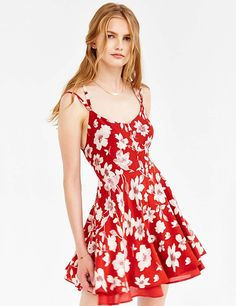 Fabric  chiffon Sweetheart neckline Multi straps Back zip closure All over  floral print Floral Dress c6827babaf91