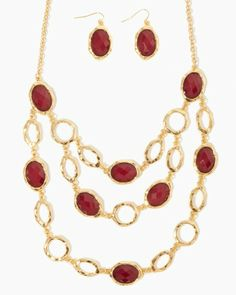 Gilt Complex Statement Set   Necklaces   charming charlie