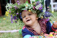 Midsummer's Day Floral Wreath