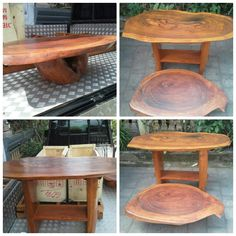 Open order for any woiden slab furniture,   On the picture, that is coffee table and tv table.  For your information about our product and pricelist, contact us via;  FB; Bali Rustic Rental  Instagram : bali rustic rental Email : goesbayuputra@yahoo.com Wa : 089655355052 Ph : 081238076101