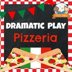 Dramatic Play Pizza Shop Printable Kit