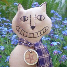 Happy Cat The Primitive Folk Art Kitty by scaredycatprimitives