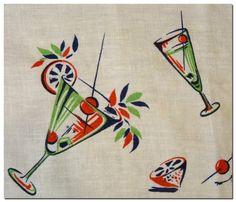Cocktail print cloth