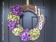 7. Wreath with house number