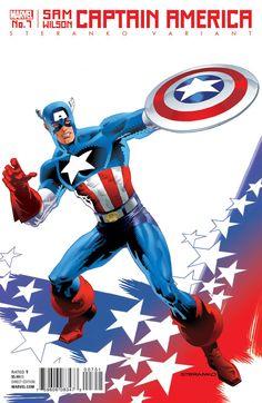 Captain America: Sam Wilson #7, variant cover di Jim Steranko