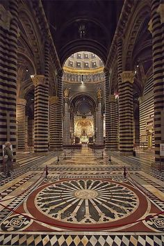 The Cathedral of Siena, province of Siena, Tuscany
