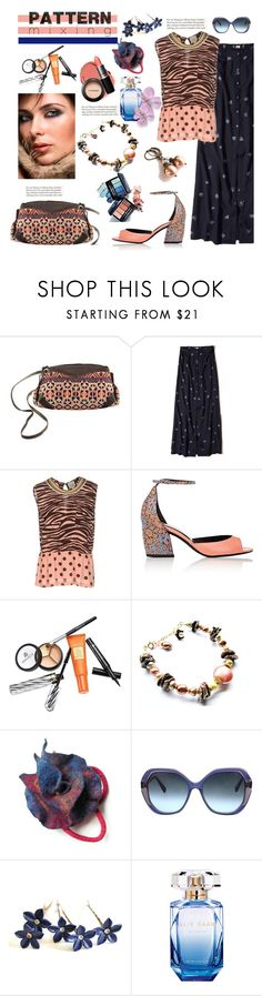 """""""Stay Bold: Pattern Mixing"""" by belladonnasjoy ❤ liked on Polyvore featuring NOVICA, Hollister Co., Alysi, Pierre Hardy, Borghese, Oscar de la Renta, Elie Saab and patternmixing"""