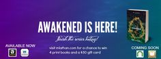 Awakened is here! Finish the Hidden Series Today. On Amazonhttp://www.amazon.com/Awakened-Hidden-Book-Four-Lathan-ebook/dp/B00TL5TYPC/ref=sr_1_2?ie=UTF8&qid=1423931679&sr=8-2&keywords=awakened+hidden+series Or smashwordshttps://www.smashwords.com/books/view/519466
