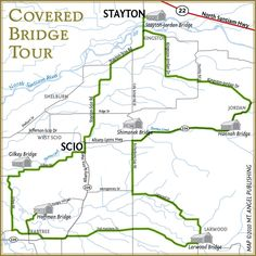 Covered Bridge Tour- Step by step driving or cycling directions for the Covered Bridge Tour of #Stayton and Scio, Oregon