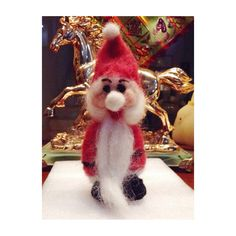 Work in process. Made from felt wool. Santa