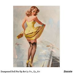 Pin Up Girl, Splash, Vintage Poster Shower Curtain by VivianAllen - CafePress Pin Up Girl Vintage, Retro Pin Up, Vintage Pins, Vintage Humor, Vintage Style, Pin Up Pictures, Pin Up Drawings, Pin Up Posters, Retro Lingerie