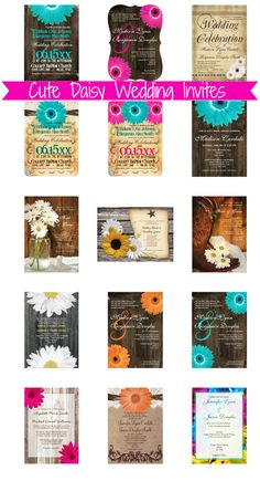 Daisy Wedding Invitations with gerber daisies, African daisies, and more floral designs. Wedding Invitations Online, Country Wedding Invitations, Wedding Invitation Templates, Custom Invitations, Daisy Wedding, Our Wedding, Dream Wedding, Wedding Ideas, Country Wedding Cakes