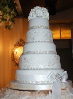 Elegant White Wedding Cake - This monster of a cake held so many ...