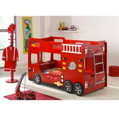 twin fire truck bed | kiddos | pinterest | truck bed, fire trucks