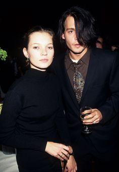 Kate Moss et Johnny Depp au 25ème anniversaire de la Fear and Loathing à Las Vegas, le 11 novembre 1996