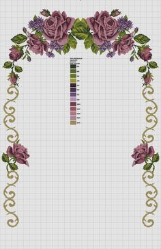 This Pin was discovered by Emi Cross Stitch Bird, Cross Stitch Flowers, Cross Stitch Designs, Cross Stitching, Ribbon Embroidery, Cross Stitch Embroidery, Cross Stitch Landscape, Free To Use Images, Filet Crochet