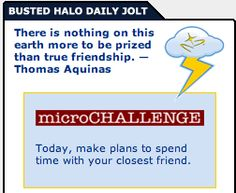 Today's Busted Halo Daily Jolt and Microchallenge!
