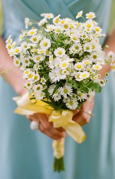 Daisies and Chamomile Wedding Bouquet