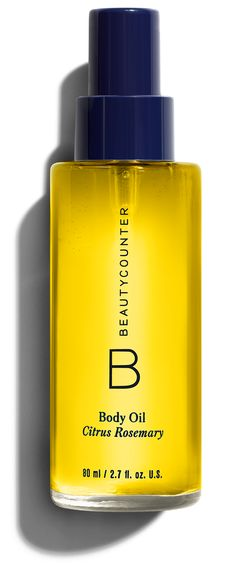 Body Oil in Citrus Rosemary for a natural glow and all day moisture without the greasy feel. Only with natural ingredients Www.beautycounter.com/juliebarker