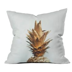 Deny Designs Gold Pineapple Pillow (€42) ❤ liked on Polyvore featuring home, home decor, throw pillows, decor, yellow, pineapple throw pillow, pineapple home decor, deny designs, yellow toss pillows and pineapple home accessories