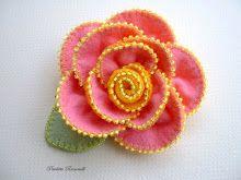 beaded edge flower pin