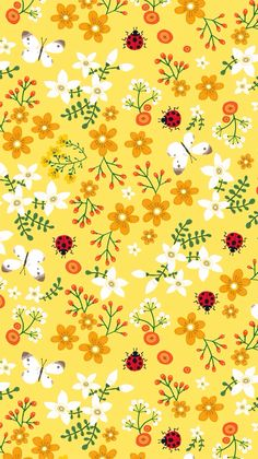 Fondos Amarillos - Fushion News Flower Background Wallpaper, Flower Phone Wallpaper, Wallpaper App, Colorful Wallpaper, Cartoon Wallpaper, Pattern Wallpaper, Design Textile, Design Floral, Pattern Paper