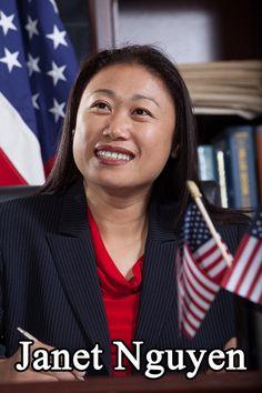 Những người bạn...: Bà Janet Nguyen, một phụ nữ gốc Việt, đã trở thành...