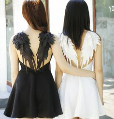 """2016 sexy backless lace angel wings dress - Use the code """"batty"""" at Sanrense for a 10% discount!"""