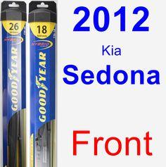 Front Wiper Blade Pack for 2012 Kia Sedona - Hybrid