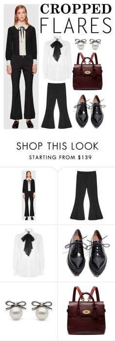 """""""professional cropped flare pants"""" by willy3384 ❤ liked on Polyvore featuring Gucci, Polo Ralph Lauren, Jeffrey Campbell, Mulberry, women's clothing, women's fashion, women, female, woman and misses"""