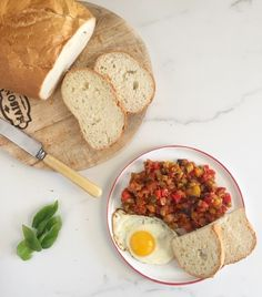Delicious veggies served alongside fresh crusty bread, topped with fried eggs for a protein punch, make breakfast ratatouille perfect to feed a crowd! Protein Packed Breakfast, Breakfast Potatoes, Savory Breakfast, Breakfast Recipes, Breakfast Ideas, Egg Recipes, Healthy Recipes, Healthy Foods
