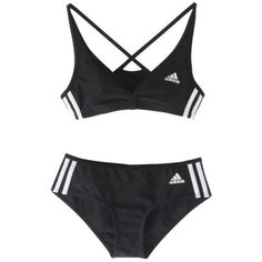 hollywoosnam:  Adidas Authentic 2-Piece Bikini, Black ❤ liked on Polyvore (see more bikini bathing suits)
