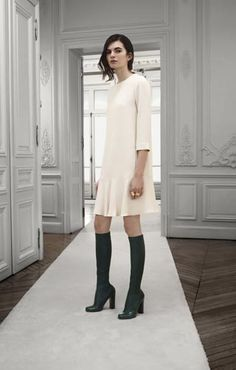 Chloe Fall 2013 love the socks and shoes-paired with super simple dress..