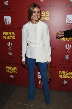 "Olivia Palermo attends The Cinema Society and Olay Host screening of Entertainment One's ""Miss Meadows"" at Neuehouse on November 12, 2014 in New York City."