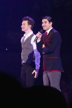 Darren Criss and Chris Colfer in Glee Live 2011